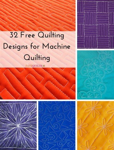 Free Printable Machine Quilting Designs