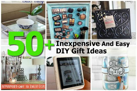 Inexpensive Handmade Gift Ideas - 50 inexpensive and easy diy gift ideas