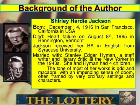 thesis for the lottery the lottery by shirley jackson essay help