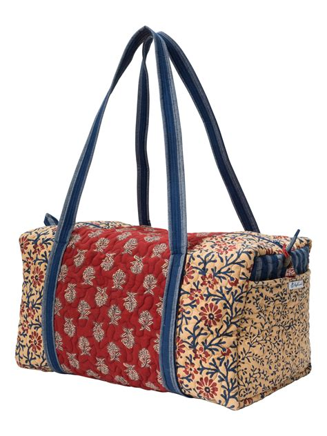 Patchwork Duffle Bag - flea market patchwork duffle bag attic sale your home