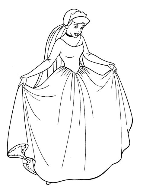 cinderella coloring book pages disney free printable cinderella coloring pages for kids