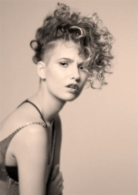curly hairstyles undercut coolest short curly hairstyles haircuts and hairstyles