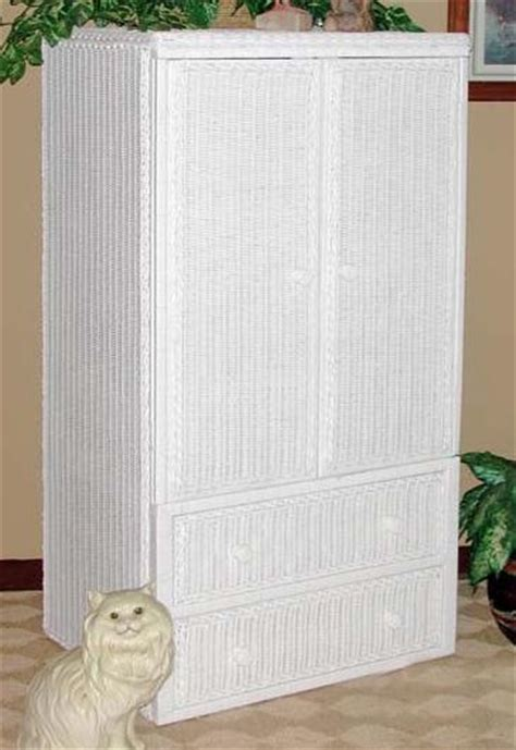Wicker Armoire Wardrobe by Wicker Org Wicker Furniture Wardrobe Armoire Chifferobe