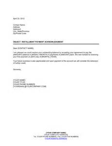 Sle Agreement To Pay Debt by Installment Payment Acknowledgment Template Sle Form Biztree