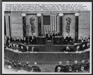 house history by address president johnson s 1965 state of the union address us house of representatives