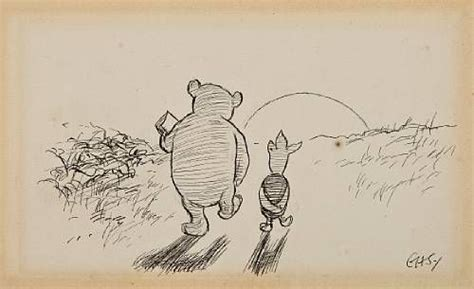 E H Shepard Sketches by E H Shepard Drawings Pencil Drawing Of Pooh And