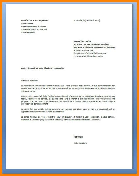 lettre de motivation stage lettre de motivation stage