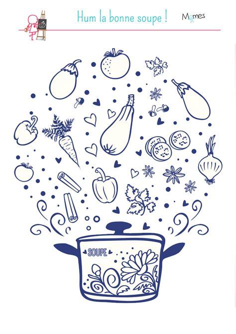 jeux sur la cuisine coloriage miam la bonne soupe momes