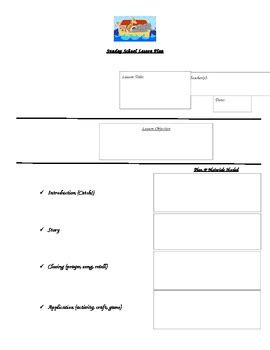 sunday school lesson plan template by megan tholl tpt