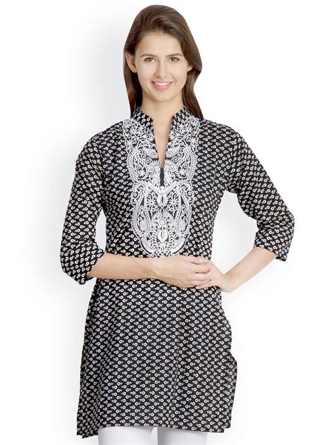 buy eavan women black white printed kurti 381 146 best sarees suruwal kurta and jins pents images on