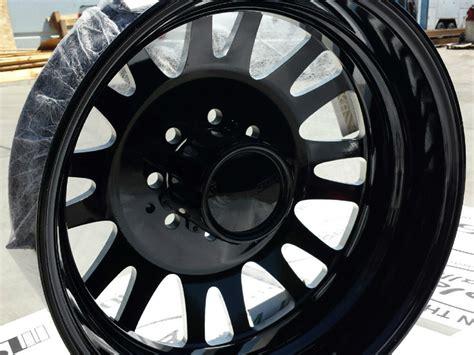 american eagle wheels   dually gloss black milled windows dually wheels wheels jk