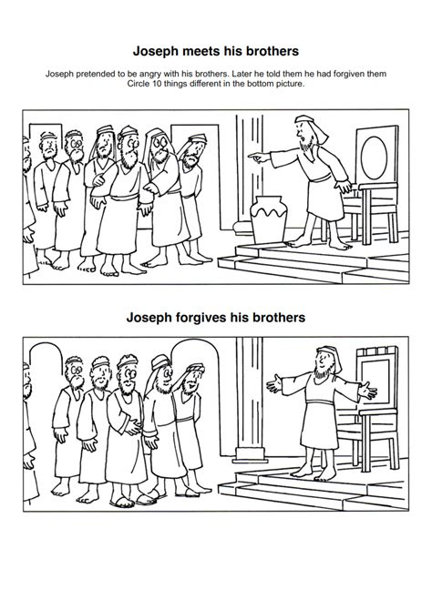 Preschool Lesson Joseph Forgives His Brothers