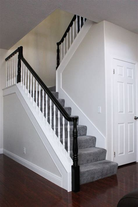 Black Handrail For Stairs Best 25 Black Stair Railing Ideas On