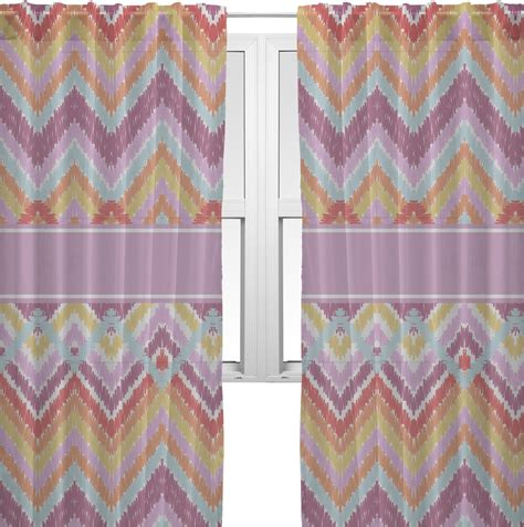 ikat sheer curtains ikat chevron sheer curtains 60 quot x84 quot personalized