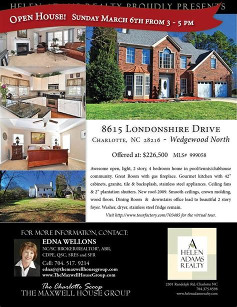 house for sale flyer open house sunday march 6 from 3 00 5 00 wedgewood north