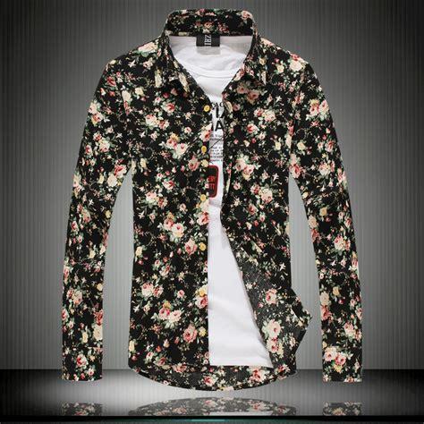 floral pattern shirt mens aliexpress com buy 100 cotton hot selling 2014 long