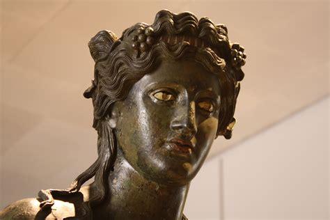 dionysus greek god statue dionysos or bacchus illustration ancient history