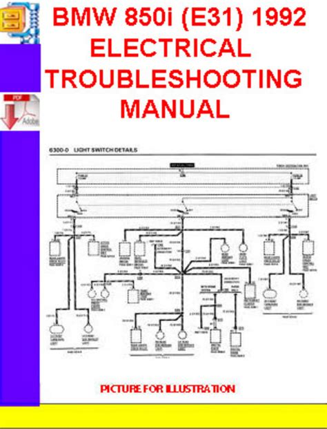1992 bmw 850 i owners electrical service manual e31 parts 1991 8 series e 31 ebay bmw 850i e31 1991 1992 electrical troubleshooting manual downlo