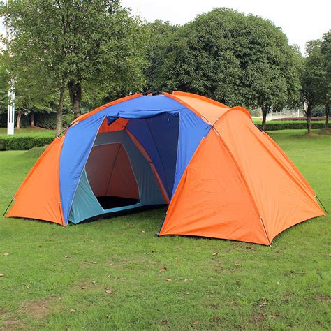 2 bedroom tent large family cing tent 3 4 person tourist big two bedrooms 4 season tents travel waterproof