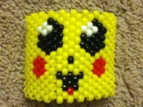 pikachu pony bead cuff bracelet  beaded cuff jewelry making  cut