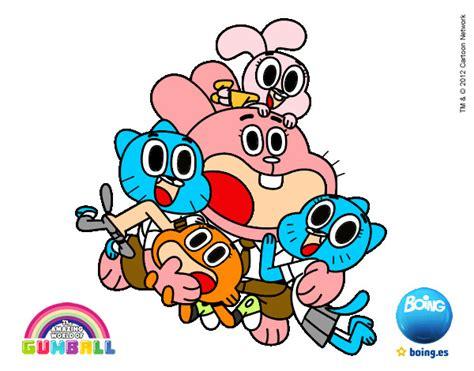 Imagenes De La Familia De Gumball | dibujo de la familia de gumball pintado por miliyprisi en