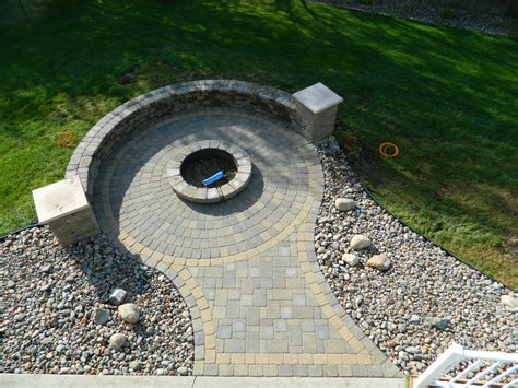 Stone Fire Pit Ideas Rosemount Mn Devine Design Hardscapes Paver Patios With Pit