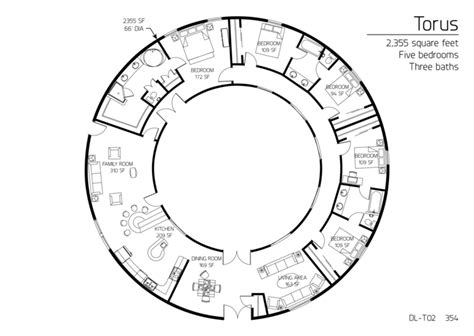 floor plan dl t02 monolithic dome institute