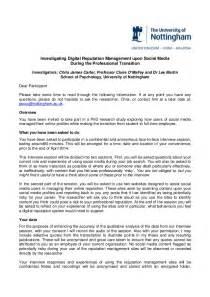 participant information sheet template participant information sheet digital reputation