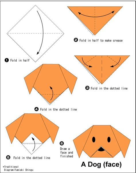 How To Make A Origami Puppy - easy origami for crafts