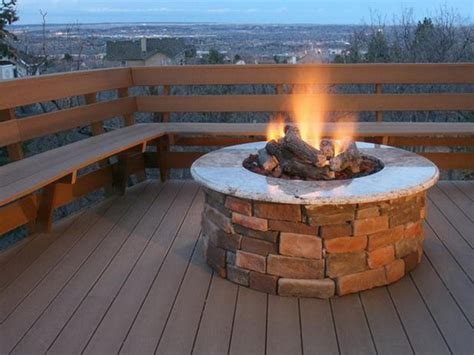 diy pit on concrete patio modern patio decorating awesome diy propane pit ideas
