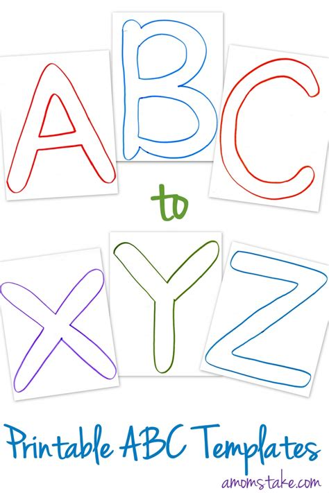 abc template free abc printable templates abc printable printable