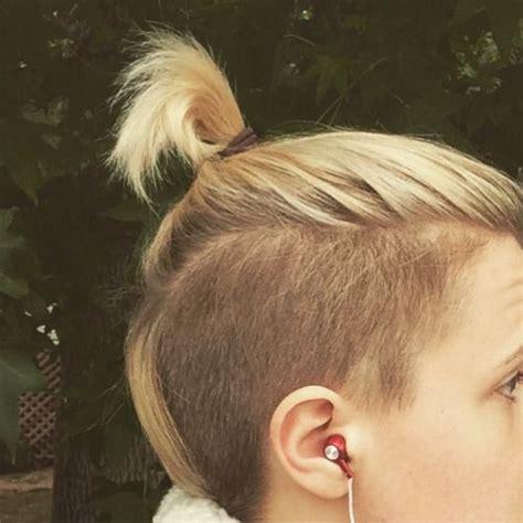 pixie cut faux bun the hannah hart hair hairs pinterest posts my