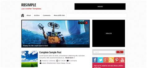 rb simple blogger templates cool blog templates