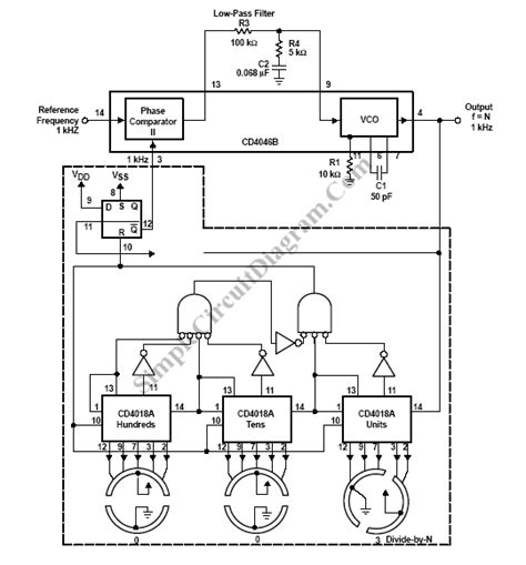 frequency synthesizer circuit diagram frequency synthesizer simple circuit diagram
