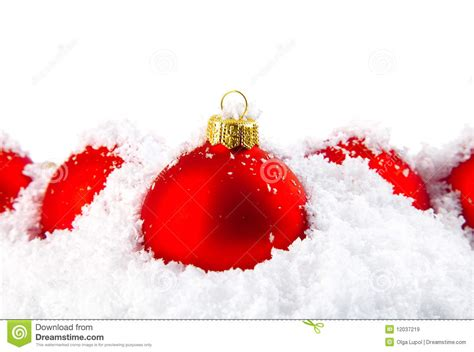 christmas holiday decoration with white snow royalty free