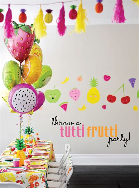 Birthday Theme Decorations - cute and colorful tutti frutti birthday party project nursery