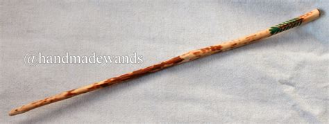 Handcrafted Wands - handcrafted spruce wood wand 18 thornfield
