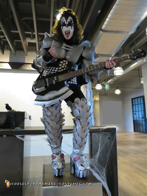 gene simmons demon costume hand drafted  crafted