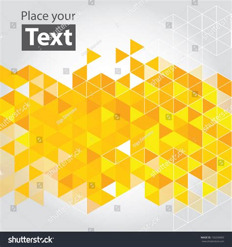 yellow design abstract mosaic background yellow cubic geometric background design elements