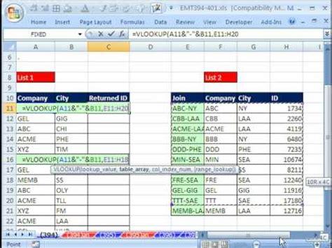 learn vlookup online vlookup several worksheets vlookup multiple values list