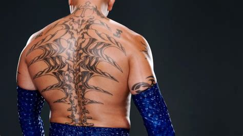 rey mysterio back tattoo mysterio s back tattoos