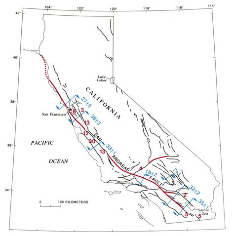 california map fault lines geology cafe