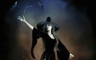 Wallpapers winter witch gothic hat magic bats dark mystic art hd