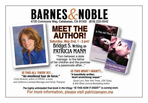 Meet The Authors At Barnes And Noble by Mann 187 Events