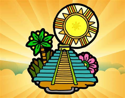 imagenes de mayas animados dibujo de templo del sol pintado por fidel01 en dibujos