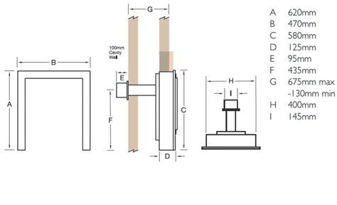 gas fireplace flue size verine elypse balanced flue gas flames co uk