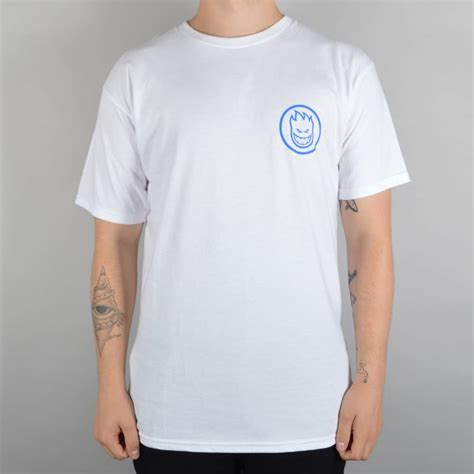 T Shirt Splitfire spitfire wheels retro classic skate t shirt white spitfire wheels from skate store uk