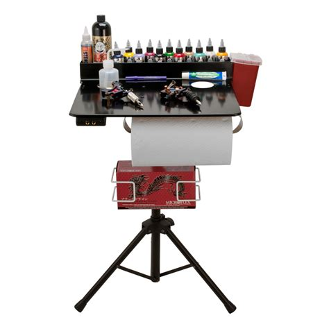tattoo workstation porta station portable studio compact stand table