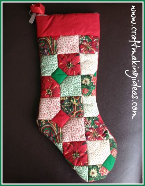 small patchwork quilted christmas stocking christmas gifts