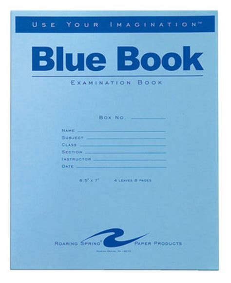 blue books fairfax cus bookstore examination blue book